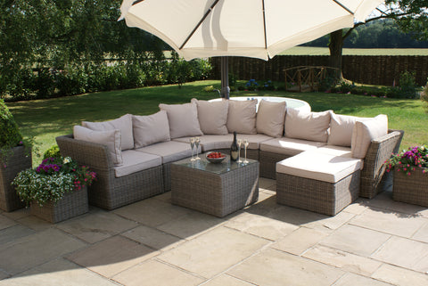 Winchester Rounded Corner Sofa Garden Furniture