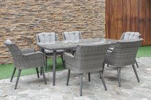 Rattan Florence 6 Seat Rectangular Dining Set