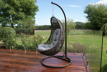 Rattan Malibu Hanging Pod Chair Outdoor Garden Furniture Brown Weave