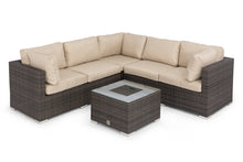 Rattan Porto Corner Group with Ice Bucket Brown Weave