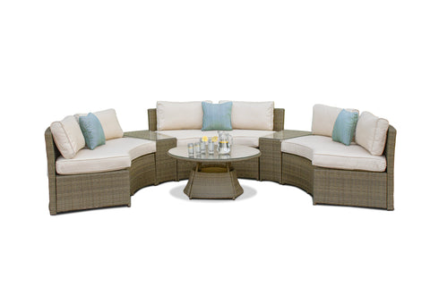 Tuscany Half Moon Sofa Set outdoor Garden Furniture