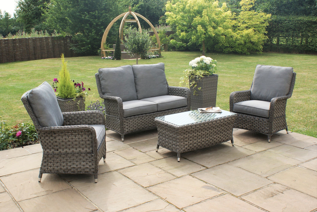 Rattan Victoria High Back 2 Seat Sofa Set