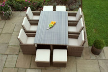 Rattan Winchester 7pc Cube Set with Footstools
