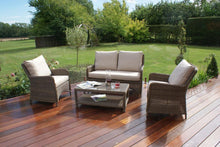 Maze Rattan Winchester Square High Back Sofa Set Garden Furniture
