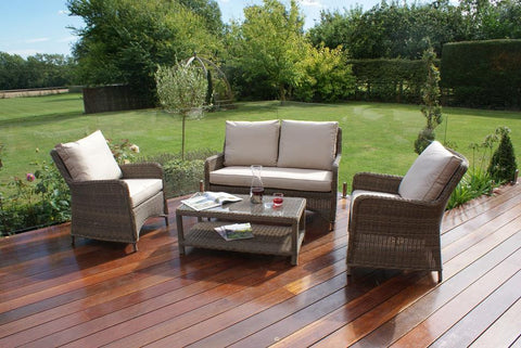 Winchester Heritage Square High Back Sofa Set Garden Furniture