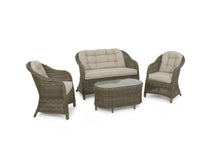 Rattan Winchester Heritage Rounded High Back Sofa Set