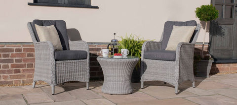 Ascot Bistro Set - With Weatherproof Cushions