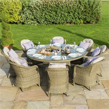Load image into Gallery viewer, Winchester 8 Seat Round Ice Bucket Dining Set With Heritage Chairs and Lazy Susan