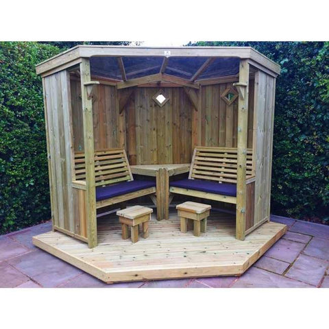 WOODEN FOUR SEASONS GARDEN ROOM - Without decking  SITS 4 (CVFS101)