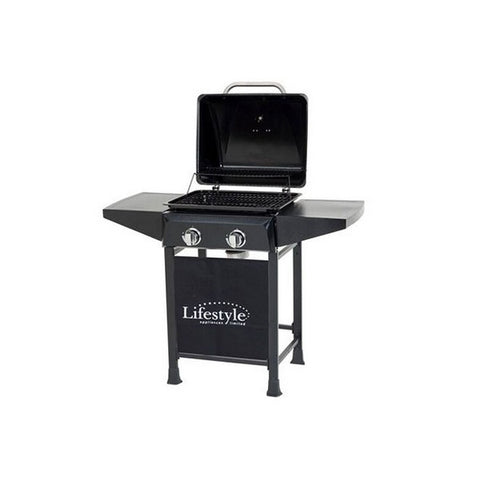 Cuba 2 Burner Gas Barbecue with Side Shelves