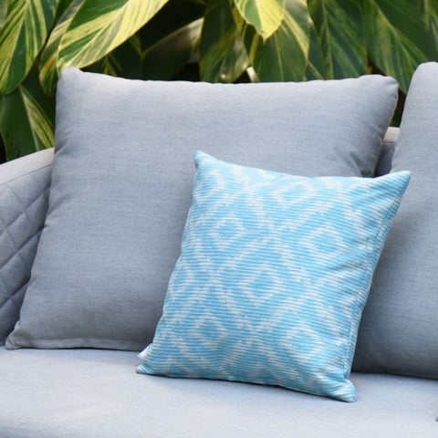 Pair of Outdoor Scatter Cushion - Santorini Blue