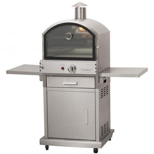Milano Stainless Steel Deluxe Gas Pizza Oven