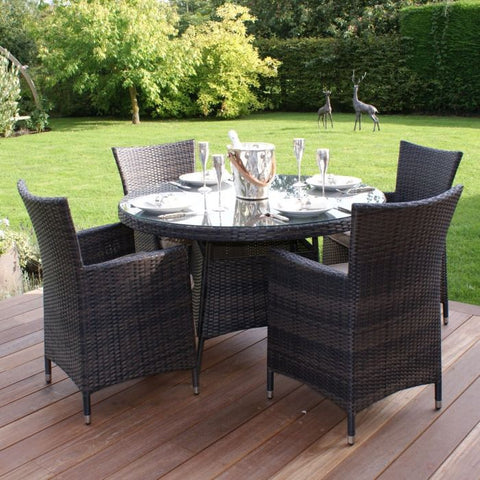 Miami 4 Seat Round Dining Set