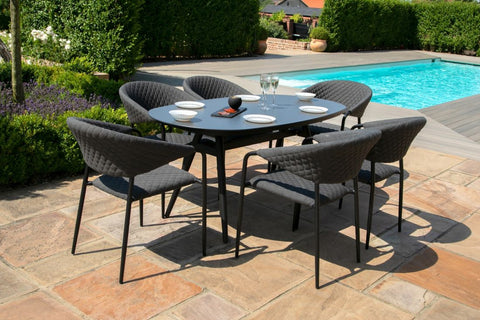 Pebble 6 Seat Oval Dining Set