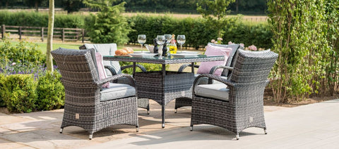Texas 4 Seat Square  Garden Furniture Set