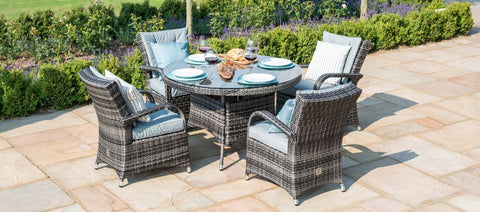 Texas 4 Seat Round Garden Furniture Set