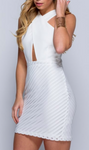 SALE £9.99 was £22.99 Halterneck crossover bodycon dress