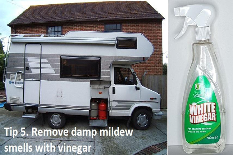 How do you get rid of the musty smell in motorhomes and caravans?