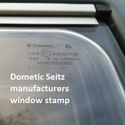 Dometic Seitz window stamp for Lock M Out Security