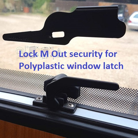 PolyPlastic window latch with security device