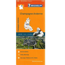 Load image into Gallery viewer, 515 Champagne Ardenne Michelin Regional Map 9782067135239 front cover
