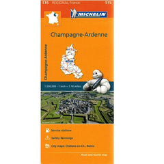 515 Champagne Ardenne Michelin Regional Map 9782067135239 front cover