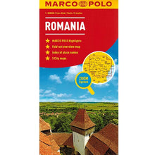 Load image into Gallery viewer, Marco Polo Romania Sheet Map IBSN:9783829770026 Atlas, Altases, Map, Mapping, Locator map