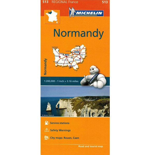 513 Normandy Michelin Regional Map 9782067135215 front cover