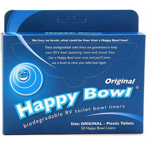 Happy Bowl Biodegradable RV Toilet Bowl Liners