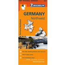 Load image into Gallery viewer, 541 Germany Northwest Michelin Regional Map 9782067183544 front cover