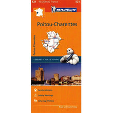 Load image into Gallery viewer, 521 Poitou-Charentes Michelin Regional Map 9782067135291 front cover