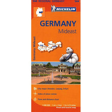 Load image into Gallery viewer, 544 Germany Mideast Michelin Regional Map 9782067183636 front cover