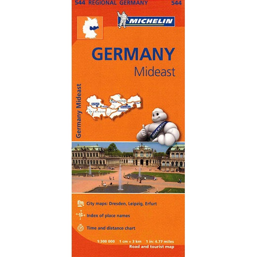 544 Germany Mideast Michelin Regional Map 9782067183636 front cover