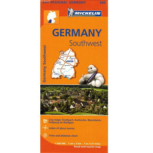 545 Germany Southwest Michelin Regional Map 9782067183667 front cover