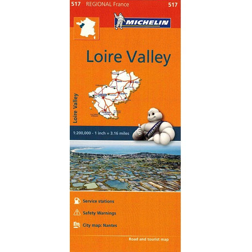 517 Loire Valley Michelin Regional Map 9782067135253 front cover