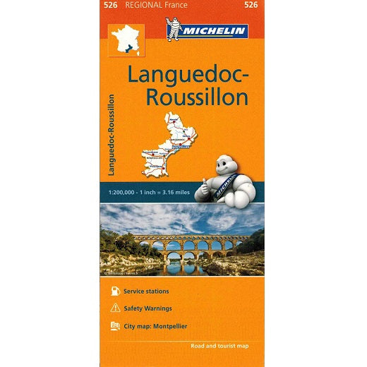 526 Languedoc-Rousillon Michelin Regional Map 9782067135345 front cover