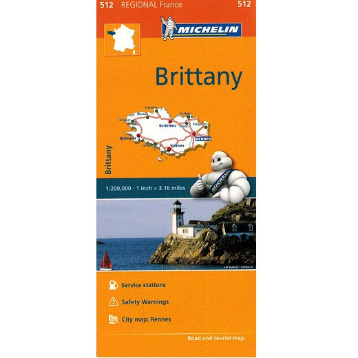 512 Brittany Michelin Regional Map 9782067209619 front cover