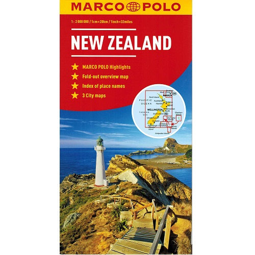 Marco Polo New Zealand Sheet Map IBSN:9783829767477 Atlas, Altases, Map, Mapping, Locator map