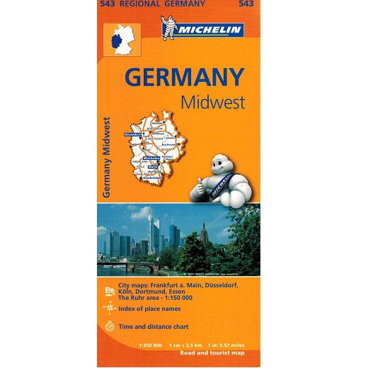 543 Germany Midwest Michelin Regional Map 9782067183605 front cover