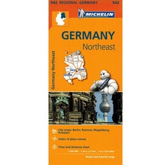 542 Germany Northeast Michelin Regional Map 9782067183575 front cover