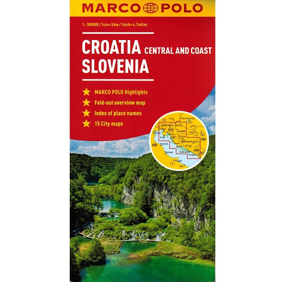 Marco Polo Croatia and Slovenia Sheet Map IBSN:9783829767101 Atlas, Altases, Map, Mapping, Locator map