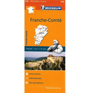 520 Franche-Comte Michelin Regional Map 9782067135284 front cover