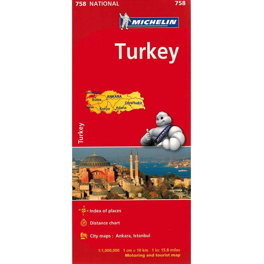 Michelin Turkey Sheet Map 758 9782067173187 front cover