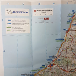 Michelin Morocco Trailer's Park Aires & Campsite Map
