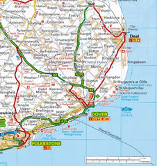 2019 AA Britain Easy Read Road Atlas Flexibound 9780749579531 dover calais channel tunnel folkestone france
