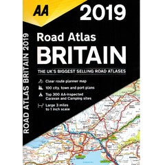 2019 AA Britain Road Atlas Spiralbound 9780749579579 front cover