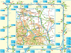 2019 AA Britain Road Atlas Spiralbound 9780749579579 cannock tampworth walsall birmingham