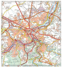 Load image into Gallery viewer, 2019 Michelin Belgium & Luxembourg Sheet Map 716 9782067236455 liege city map