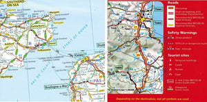2020 Michelin GB and Ireland Sheet Map 713 9782067244177 folkestone dover channel tunnel calais crossing