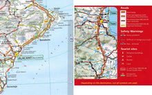 Load image into Gallery viewer, 2020 Michelin Spain & Portugal Sheet Map 734 9782067244108 back cover alicante map